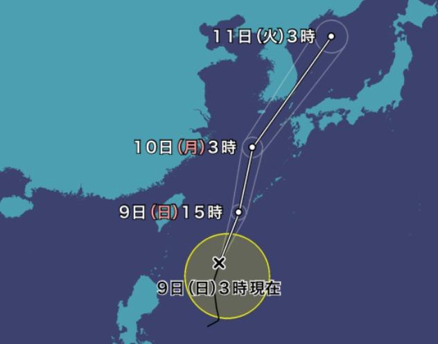 進路 ヨーロッパ 台風